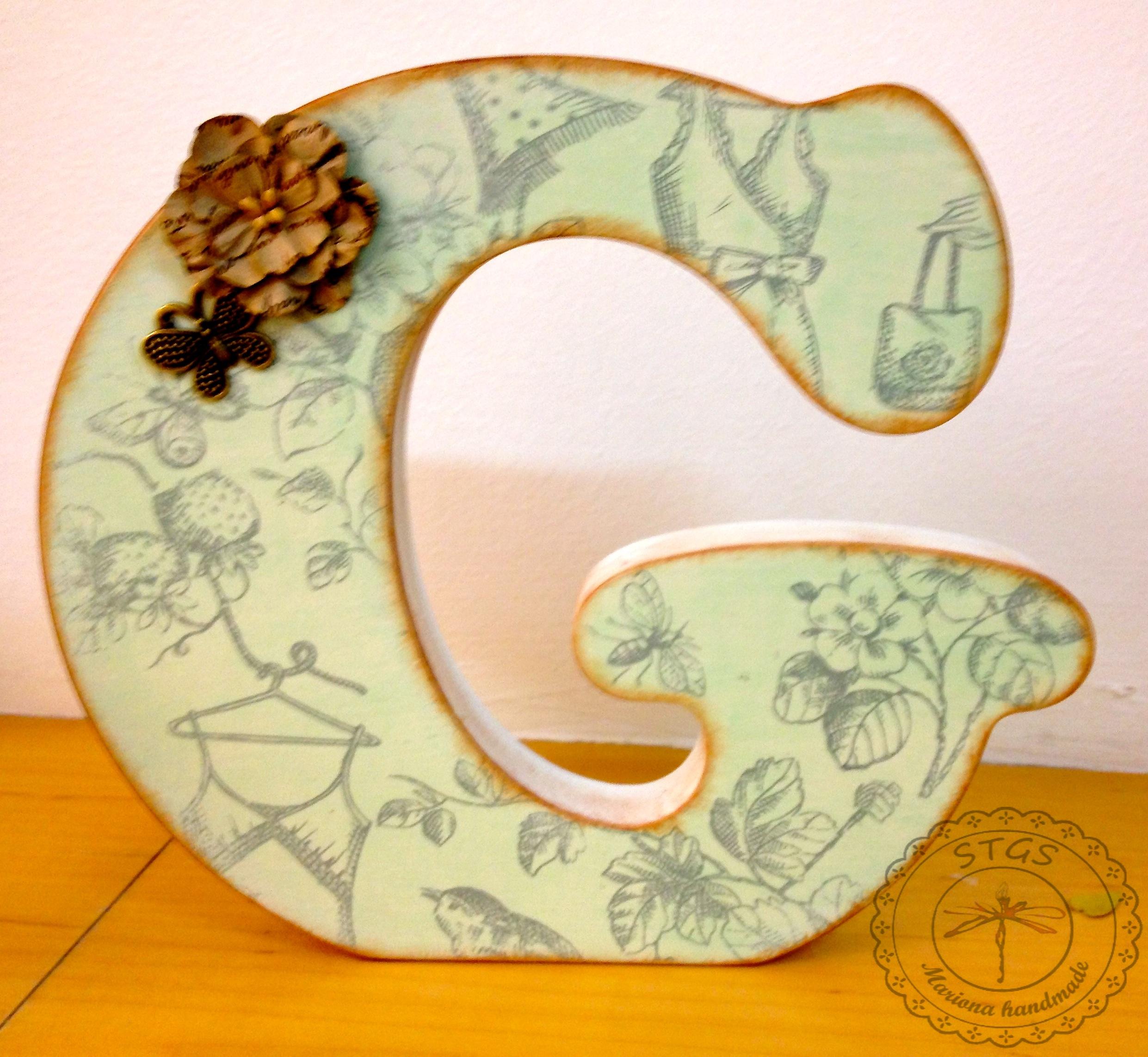 Decoupage mariona handmade - Letras de madera decoradas ...